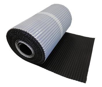 Alpha-flex Zwart Zelfklevend Geribbeld 30 cm x 5 mtr