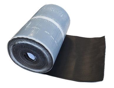 Alpha-flex Zwart Zelfklevend 25 cm x 10 mtr