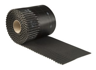 Ubiflex Standaard Zwart Geribbeld 25 cm x 6 mtr