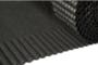 ubiflex zwart geribbeld 25cm - detail